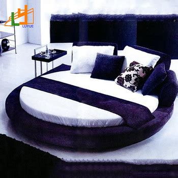 round king size bed factory custom good quality super king size modern luxury round genuine leather king