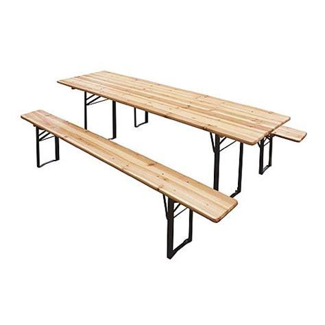 panche e tavoli in legno set birreria 2 panche e tavolo in legno 60x120 cm