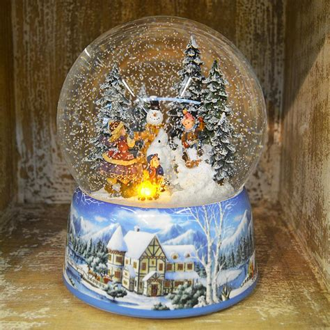 musical snowman snow globe large build a snowman musical snow globe no 48039 barretts of woodbridge