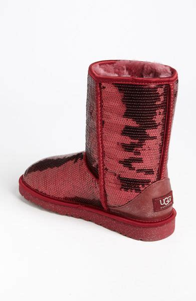 ugg sparkle boots ugg classic sparkle boot in sangria lyst