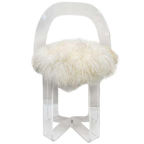 Acrylic Vanity Chair by Mid Century Modern Acrylic Vanity Chair At 1stdibs
