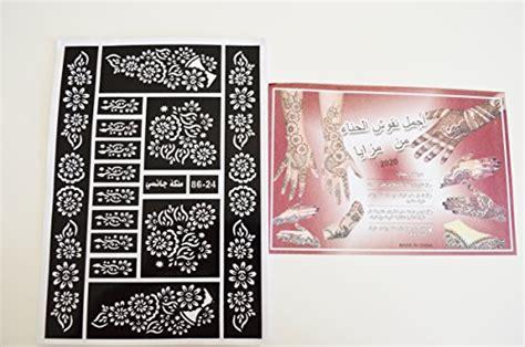 henna tattoo abu dhabi price 12 sheets of henna stickers bodyart mehndi stencil