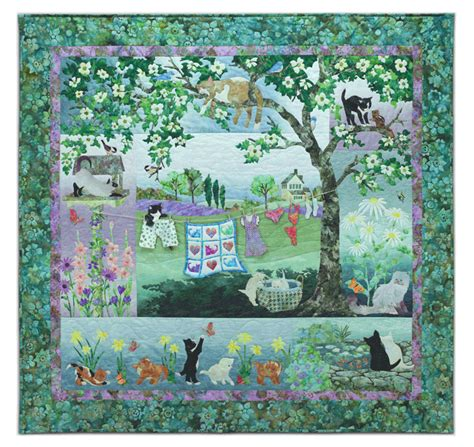 Mckenna Quilt Patterns by Wind In The Whiskers Mckenna Pine Needles Quilt Cat