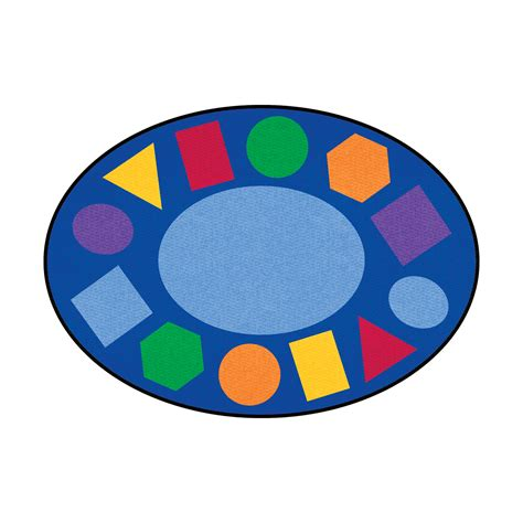 Geometric Oval Learning Rug Profile Education Learning Rugs
