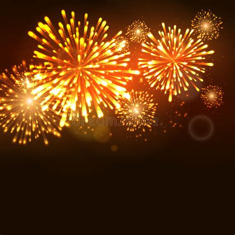 new year carnival firework new year celebration template vector