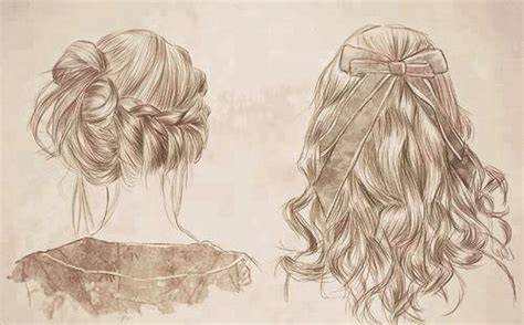 beautiful hairstyles drawing beautiful drawing fashion hairstyles image 622048 on