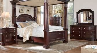 King Bedroom Sets Dumont Cherry 8 Pc King Canopy Bedroom Bedroom Sets Wood