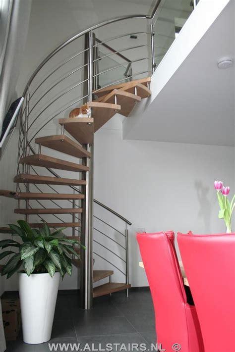 spiltrap eiken rvs spiltrap met eiken houten treden allstairs trappen