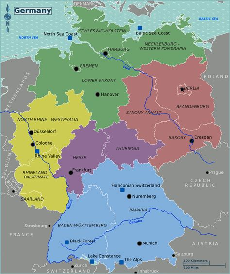 regional map of germany map of regions of germany images