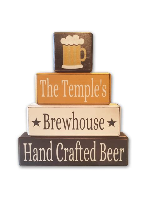 personalized craft decor home brewers home