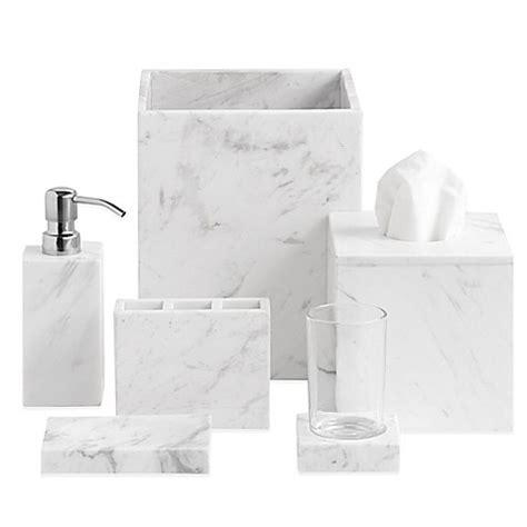 marble bathroom accessories sets camarillo marble bath ensemble bed bath beyond