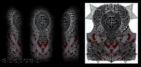 tattoo quebec celtic celtic style half sleeve by shepush deviantart com on