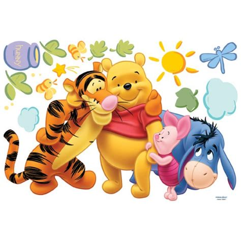 Winnie The Pooh Stickers For Walls winnie and friends wall stickers