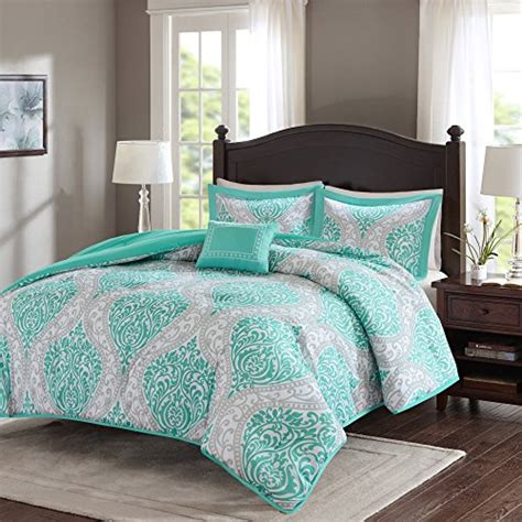 teal comforter full size comfort spaces coco comforter set 4 piece teal and