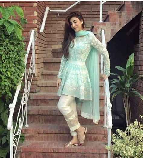 latest designs pakistani fashion short frocks  capris