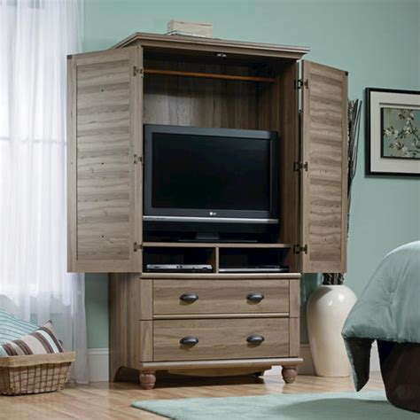 sauder harbor view dresser salt oak sauder harbor view salt oak armoire at menards 174
