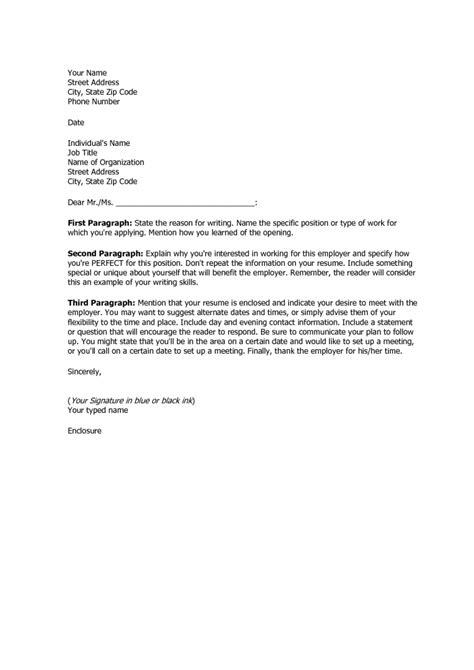 cover letter format for resume basic sle resume cover letter basic format for a cover