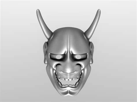 kabuki mask template stl finder searching 3d models for hannya kabuki maske