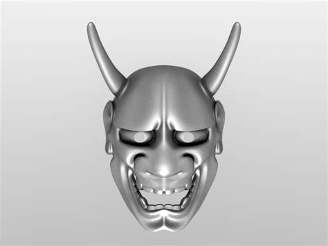 kabuki mask template stl finder searching 3d models for hannya kabuki maske