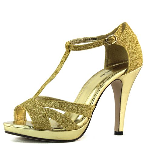 high heel sandals gold gold sandals high heel glitter peep toe ankle strappy