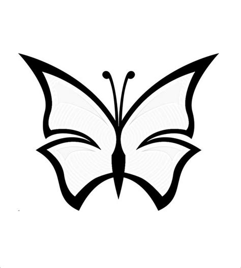butterfly simple 30 butterfly templates printable crafts colouring