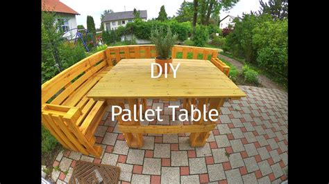 diy project making  table   pallets youtube