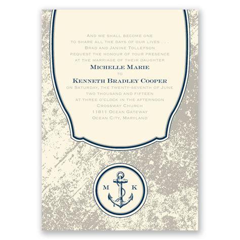 Wedding Invitations Nautical by Vintage Nautical Invitation Invitations By