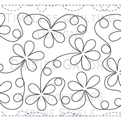 printable free motion quilting designs daisies galore paper version free motion quilting