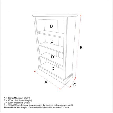 typical library shelf dimensions crafts