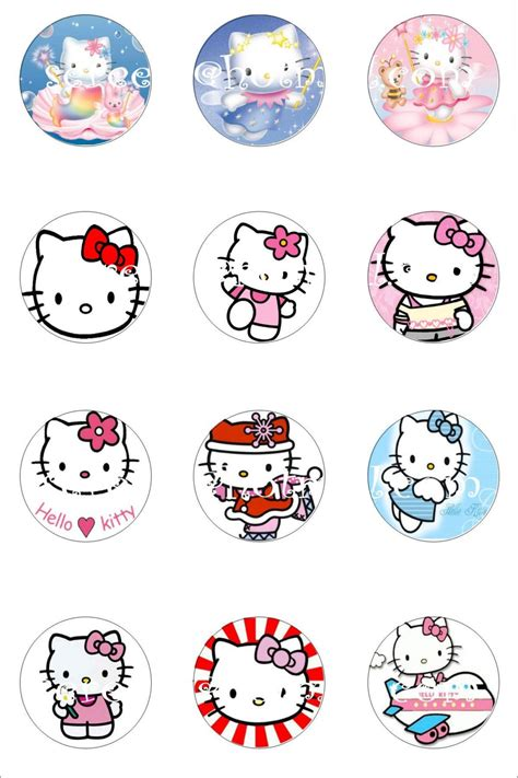 Free Printable Stickers Hello Kitty | 7 best images of free printable hello kitty sticker sheet