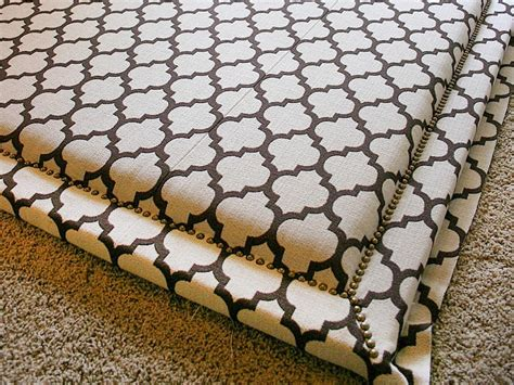 how to upholster a headboard with nail trim how tos