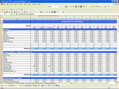 Spreadsheet Free Software by Family Budget Planner Software Free And Family