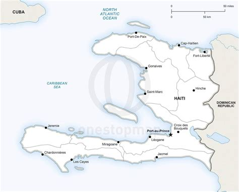 printable map haiti vector map of haiti political one stop map