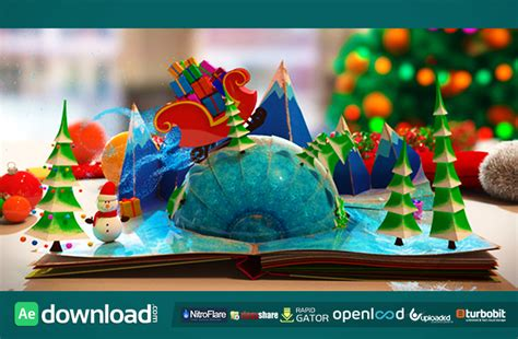 templates after effects gratis navidad christmas pop up book after effects project videohive