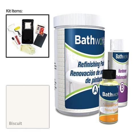 bathworks diy bathtub refinishing kit reviews bathworks 20 oz diy bathtub refinishing kit biscuit bwk 02 the home depot