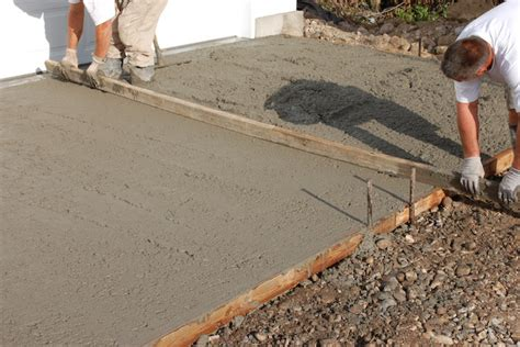 How To Screed A Floor Level by Lay Concrete Pour And Finish Concrete Slab For Storage Sheds