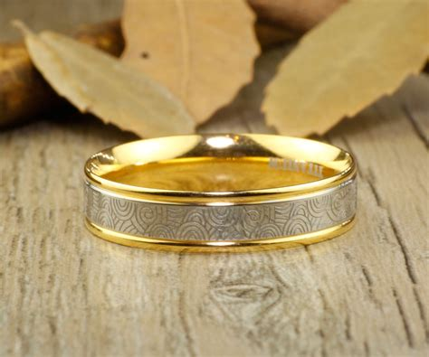Wedding Bands Couples by Handmade Gold Wedding Bands Rings Set Titanium