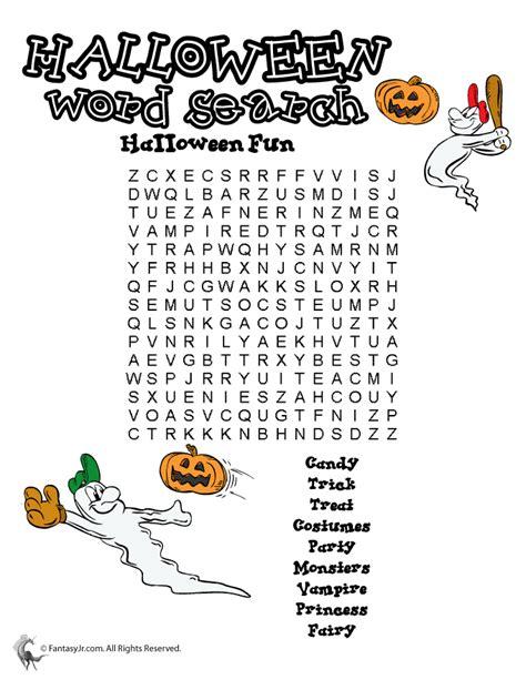 printable junior word search halloween word search printables halloween word search
