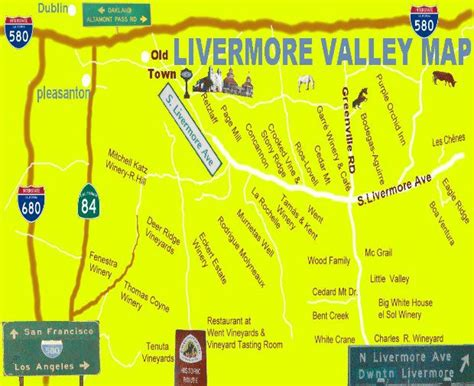 california map livermore livermore wineries map