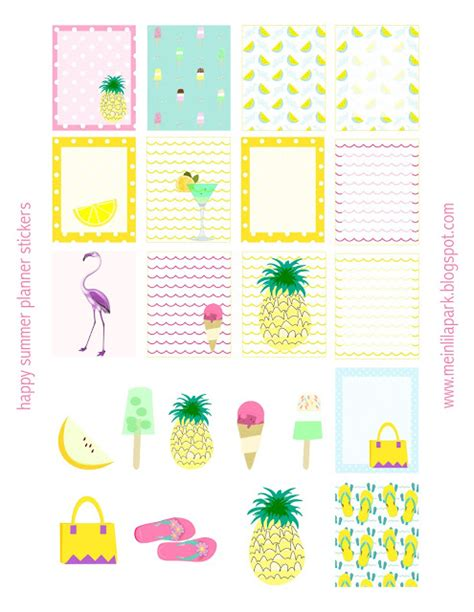 planner printable freebies free printable summer planner stickers ausdruckbare