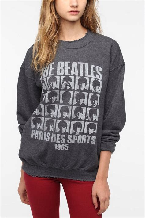 Sweater The Batles outfitters junk food the beatles grid sweatshirt
