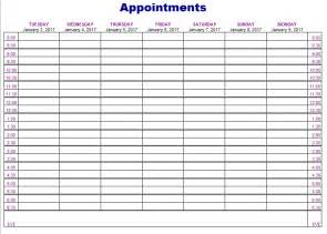 Appointment Template by Appointment Scheduling Template Best Template Idea