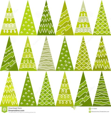 christmas tree new year pattern spruce trees green new year pattern triangles
