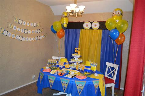 Bday Party Decorations At Home by Minions Birthday Party Ideas Photo 1 Of 27 Catch My Party