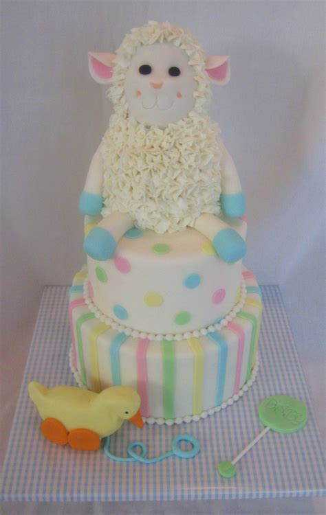 lamb baby shower cake cakecentral com