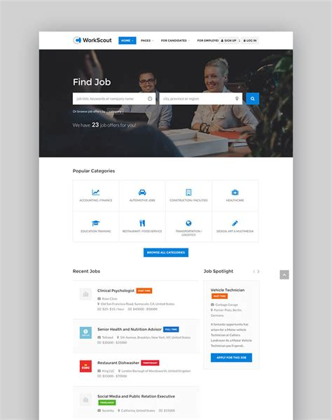 business directory website template 20 best directory themes to make business