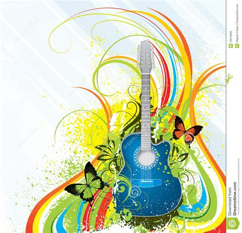 colorful guitar wallpaper colorful guitar background stock vector illustration of