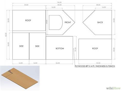plywood house plans plywood dog house plans elegant how to build a dog house with wikihow new home plans