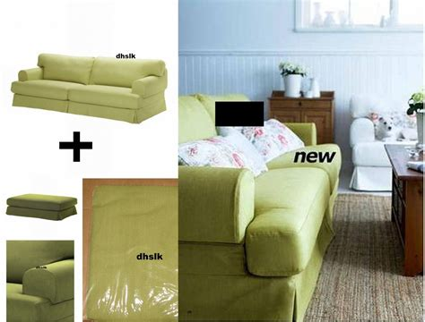ikea hovas couch ikea hovas sofa and footstool slipcover cover kallvik