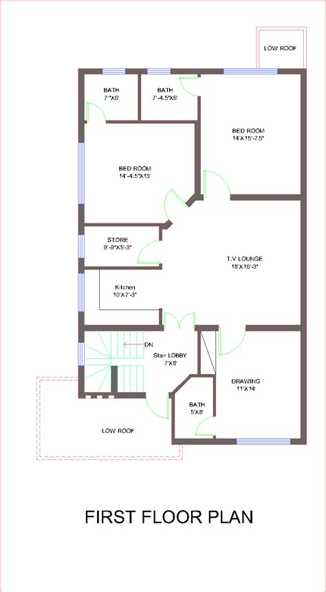 house layout map architectural design for 10 marla house images